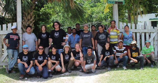 The team of Slovak archaeologists in Guatemala.