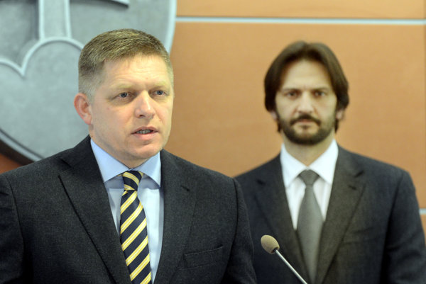 PM Robert Fico (l) and Interior Minister Robert Kaliňák (r)