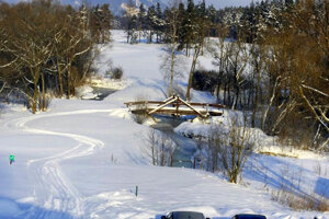 Golf course-turned-cross-country skiing track at Veľká Lomnica.