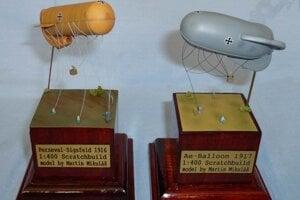 World War I Zeppelins, models by Martin Mikuláš