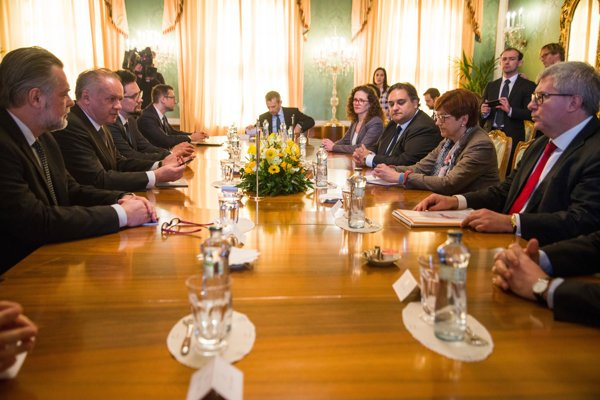 President Andrej Kiska met with EP delegation on March 8.