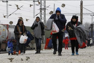 Migrants are perceived as a threat, illutsrative stock photo