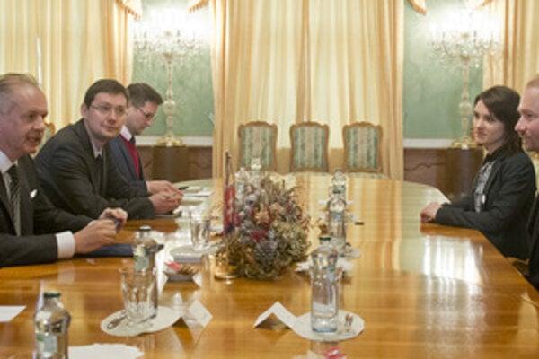President Andrej Kiska meets Slovak Teachers Initiative representatives.