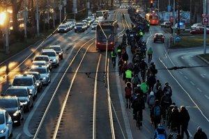 Protest cyclo ride.