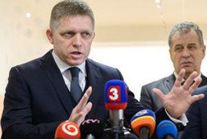 PM Fico (L) in Nitra