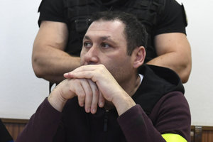 Antonino Vadala at´the Košice court's session on Aprl 20, which decided on his extradition.