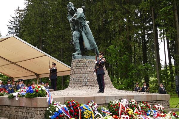 The memorial in Makov, Žilina Region