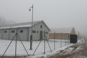 Former camp in Sereď, white barracks have been reconstructed.