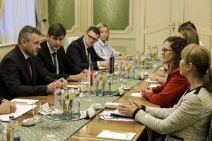 Meeting of PM Peter Pellegrini and European MPs