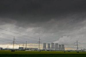 The original skyline of the nuclear power station Jaslovské Bohunice
