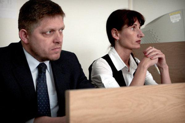 Viliam Jasaň's assistant was once also lawyer of Prime Minister Robert Fico (L), Zuzana Kupcová.