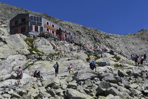 Chata pod Rysmi is a popular tourist destination.