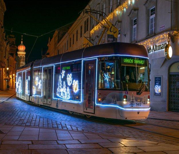 Christmas tram in Plzeň