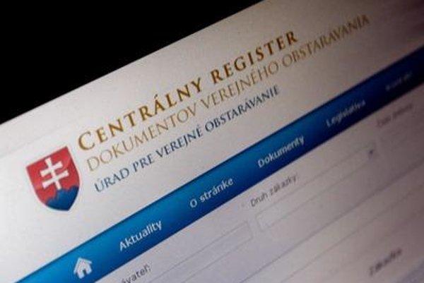 ÚVO's existing central registry, form
