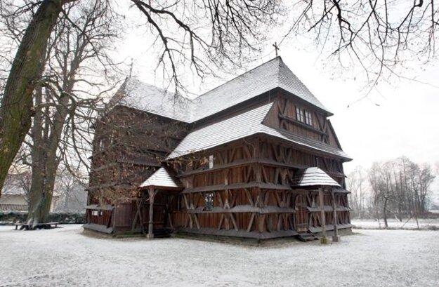 The Hronsek wooden church.