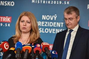 Zuzana Čaputová and Robert Mistrík