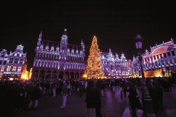 Visitors to the Grand Place in Brussels will be able to see the illuminated Christmas tree from Slovakia.