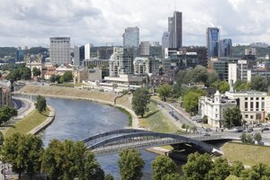 Vilnius, the capital of Lithuania.