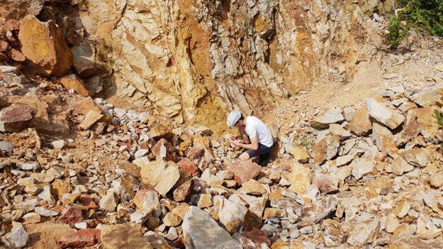 Digging for treasure near Banská Štiavnica.
