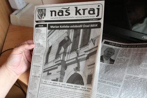 Kotleba's newspaper, Náš kraj, Banská Bystrica region.