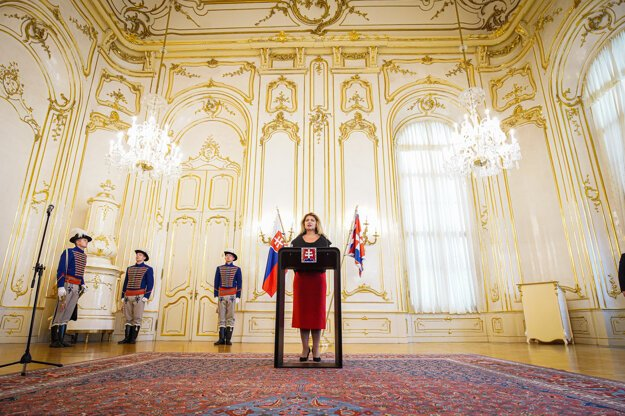 President Zuzana Čaputová during her August 26 speech.