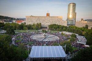 For a Decent Slovakia protest in Bratislava, September 20, 2019.