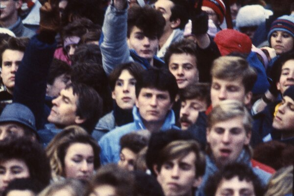 A 1989 protest gathering in Bratislava.
