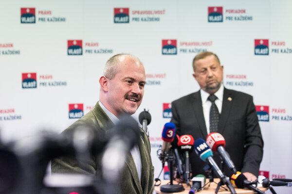 Marian Kotleba (l) and Štefan Harabin (r)