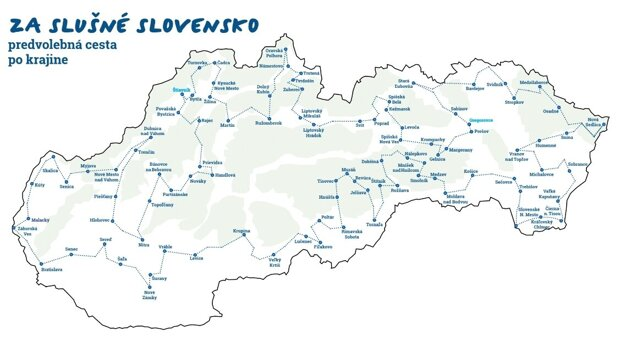 A pre-election tour around Slovakia, organised by the initiative, will start on February 1 and last for three weeks
