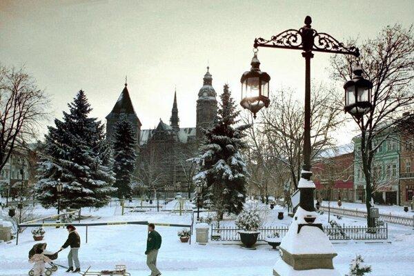 Wintertime in Košice.