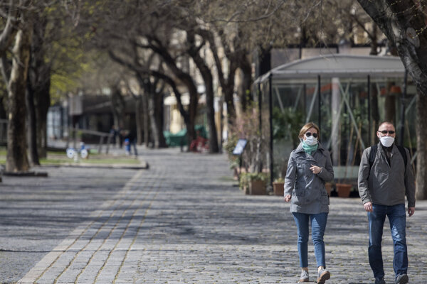 Empty streets of Bratislava.