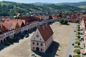 Bardejov is a well-preserved medieval town in eastern Slovakia.