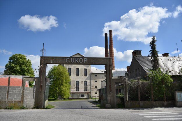 Sugar refinery buildings in the village of Vlčkovce near Trnava.