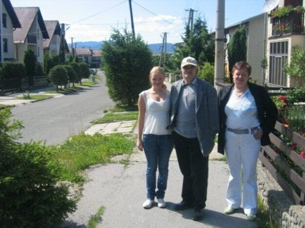 Bibiana Kerpcar with her maternal grandparents in Slovakia in 2007.