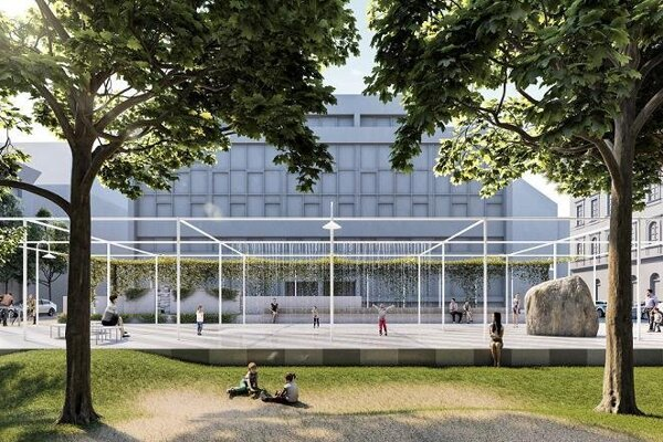 Design of Komenského Square as proposed by Totalstudio architects.