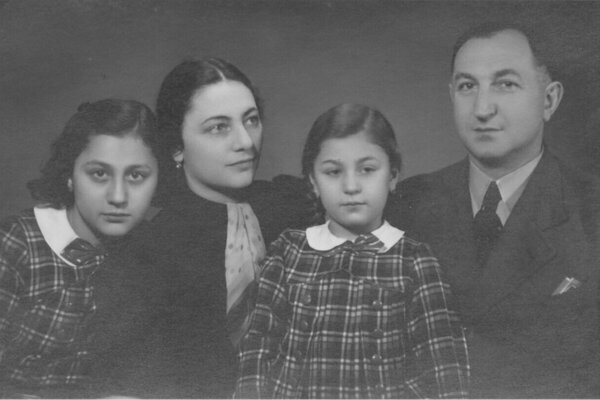 The Kováčik family with Dolly, left and Bibiana, in the middle.