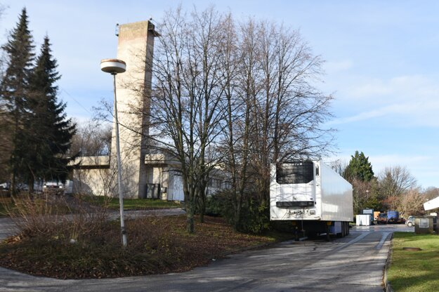The cooling trailer in Nitra.