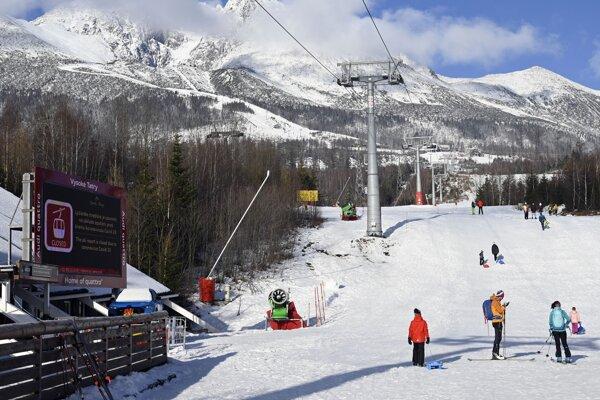 Ski resort in Tatranská Lomnica
