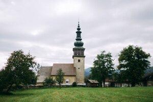 The church in Ochtiná.