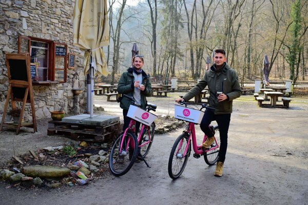 Bratislavans can rent bikes and set off for a trip to the Small Carpathians