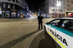 The curfew emptied the streets in Bratislava.