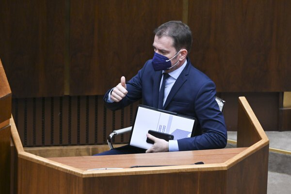 Finance Minister Igor Matovič (OĽaNO) after parliament passed amended state budget.