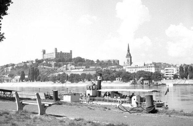 The panorama of Bratislava, 1964.