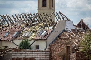 Massive storms affected the whole of the Southern Moravia region, in the south-east of the Czech Republic. The area along the border with Slovakia was the hardest hit.