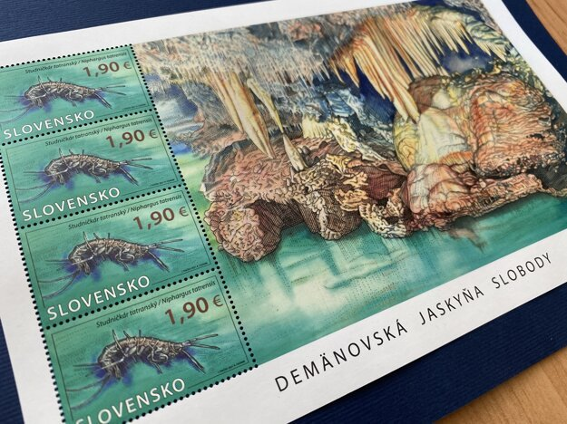 A new stamp marks 100 years since the discovery of Demänovská Cave of Freedom.