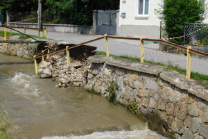 Damages caused by the late July flood in Valaská Belá.
