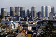 The skyline of Bratislava