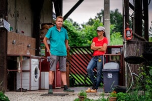 Dutch farmers Arnold Sikking and Bernadette Kuijpers arrived in Slovakia 12 years ago to start a farm.