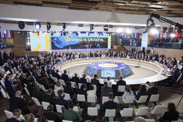 High ranking officials, including Slovak PM Eduard Heger, attended the Crimea Platform summit in Kyiv, Ukraine on August 23, 2021.
