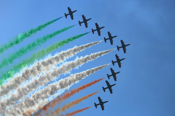 The Frecce Tricolori group from Italy at the SIAF festival back in 2015.